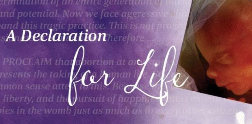 Have you signed the Declaration for Life?